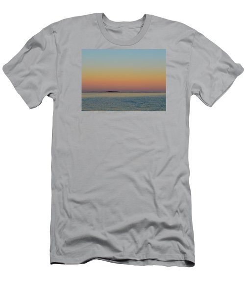 Men's T-Shirt (Slim Fit) featuring the photograph Sunset Blend At The Outer Harbor 2  by Lyle Crump