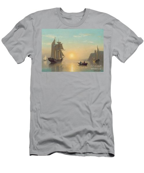 Sunset Calm In The Bay Of Fundy Men's T-Shirt (Athletic Fit)