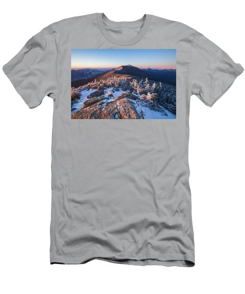 Sunset Glow On Franconia Ridge Men's T-Shirt (Athletic Fit)