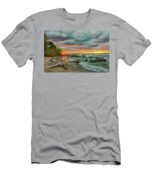 Sunset In Rocky River, Ohio Men's T-Shirt (Athletic Fit)