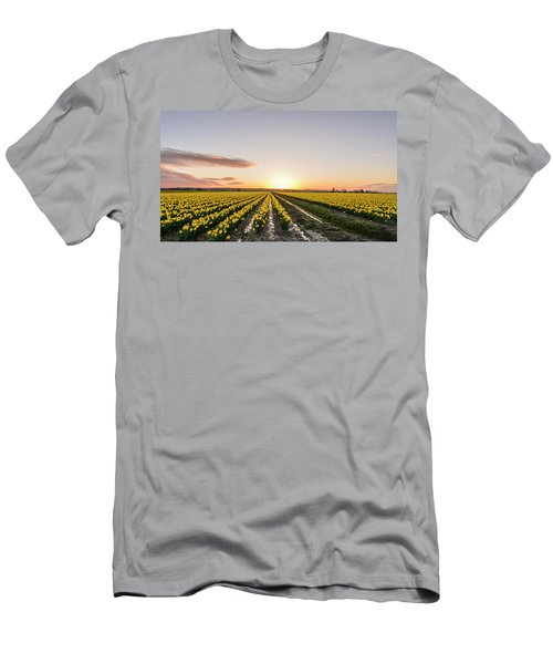 Sunset In Skagit Valley Men's T-Shirt (Athletic Fit)