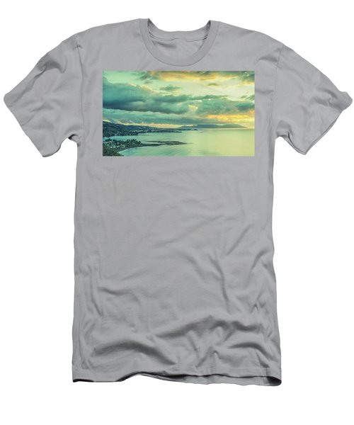 Men's T-Shirt (Athletic Fit) featuring the photograph Sunset In Tahiti by Gary Slawsky