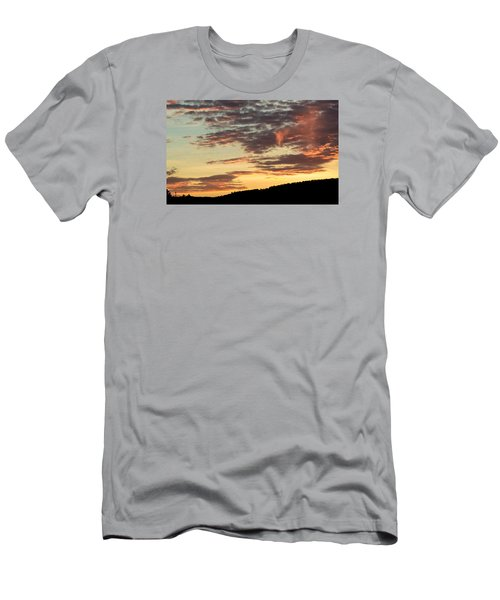 Sunset On Hunton Lane #6 In The Company Of Angels Men's T-Shirt (Slim Fit) by Carlee Ojeda
