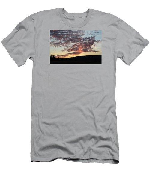Sunset On Hunton Lane #9 Men's T-Shirt (Slim Fit) by Carlee Ojeda