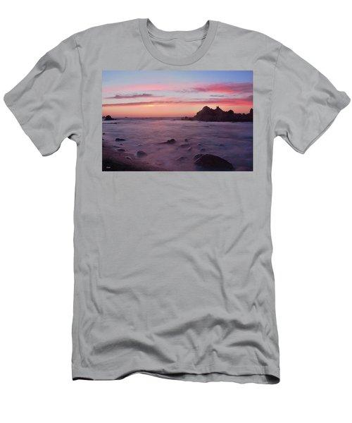 Sunset On Monterey Bay Men's T-Shirt (Slim Fit) by Dana Sohr