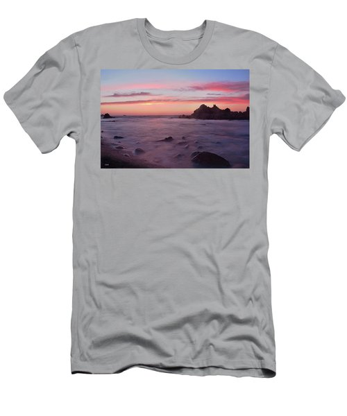 Sunset On Monterey Bay Men's T-Shirt (Athletic Fit)