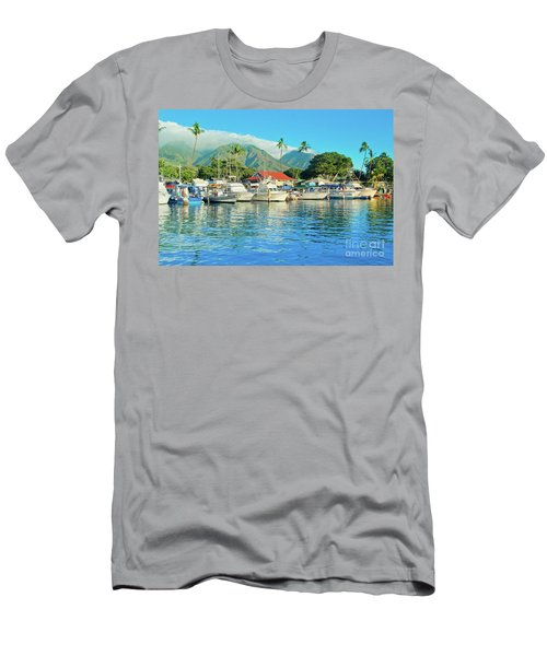 Sunset On The Marina Lahaina Harbour Maui Hawaii Men's T-Shirt (Athletic Fit)