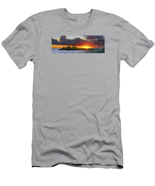 Sunset On The North Shore Of Oahu Men's T-Shirt (Slim Fit) by Aloha Art