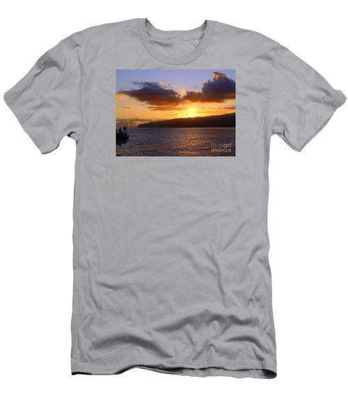 Sunset Over Reunion Island Men's T-Shirt (Athletic Fit)