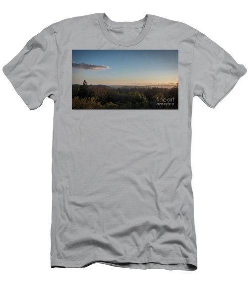 Sunset Over Top Of Dense Forest Men's T-Shirt (Athletic Fit)