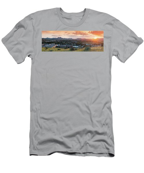 Sunset Panorama Of Alpine And Sul Ross State University - Brewster County - Far West Texas Men's T-Shirt (Athletic Fit)
