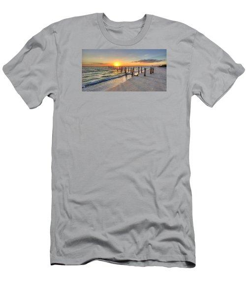 Sunset Pilings Men's T-Shirt (Slim Fit) by Sean Allen