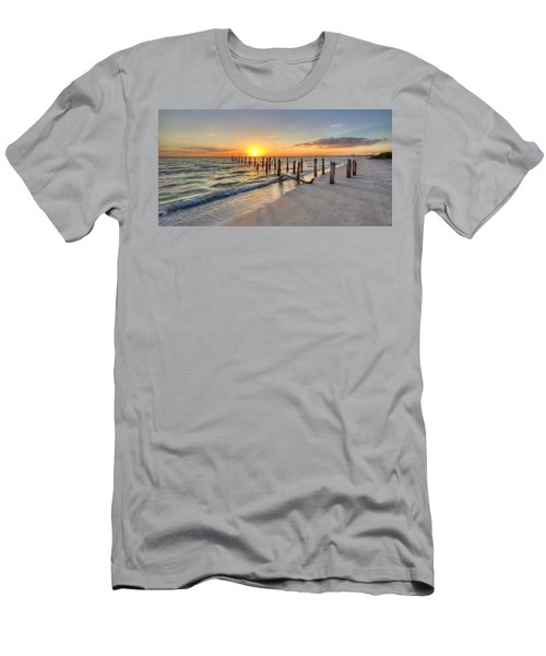 Sunset Pilings Men's T-Shirt (Athletic Fit)