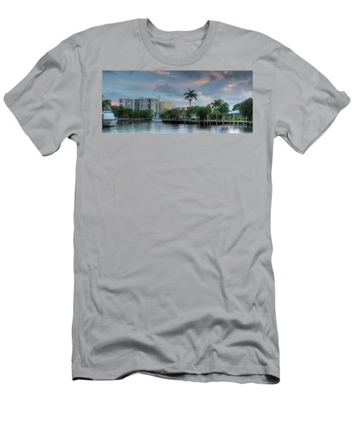 sunset South Florida canal Men's T-Shirt (Athletic Fit)