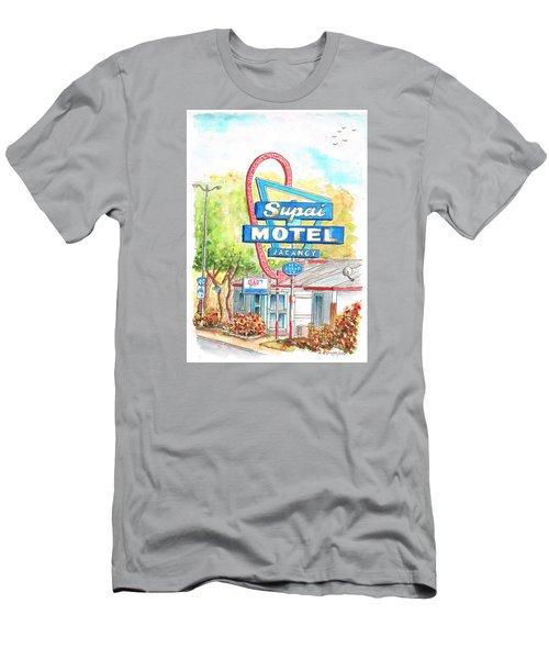 Supai Motel In Route 66, Seliman, Arizona Men's T-Shirt (Slim Fit) by Carlos G Groppa