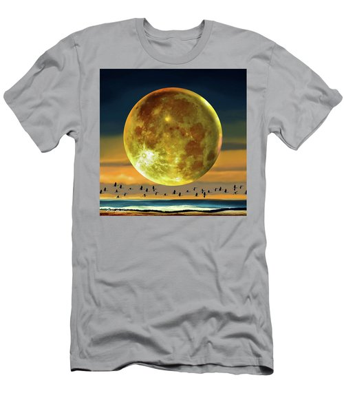 Super Moon Over November Men's T-Shirt (Athletic Fit)