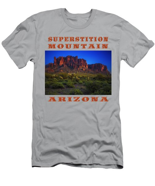 Superstition Mountain Sunset Men's T-Shirt (Athletic Fit)