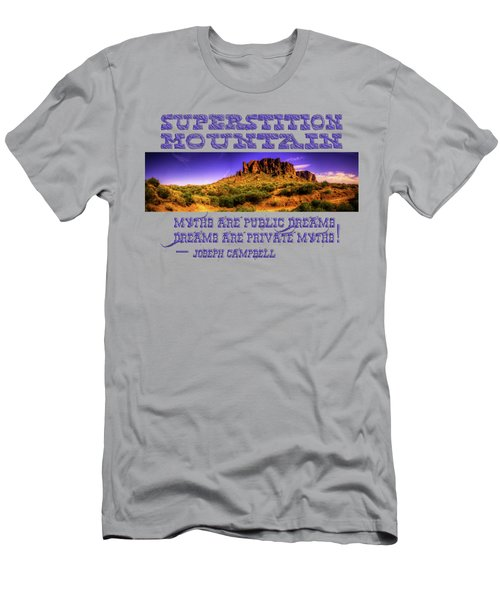 Superstition Mountains In Panorama Late Afternoon Men's T-Shirt (Athletic Fit)