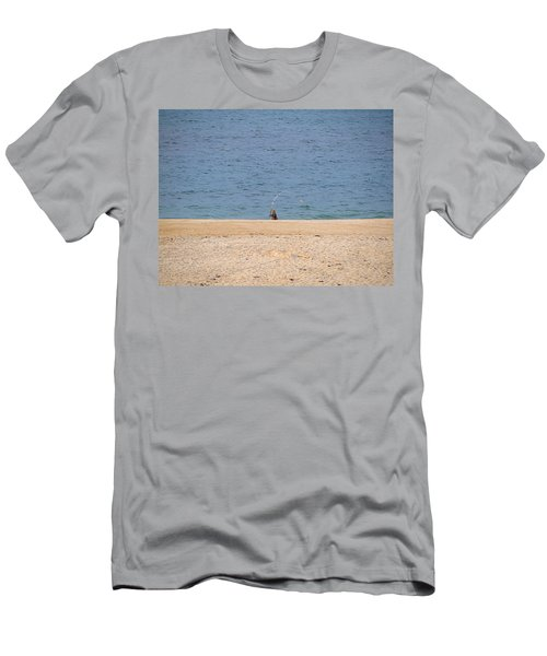 Men's T-Shirt (Slim Fit) featuring the photograph Surf Caster by  Newwwman