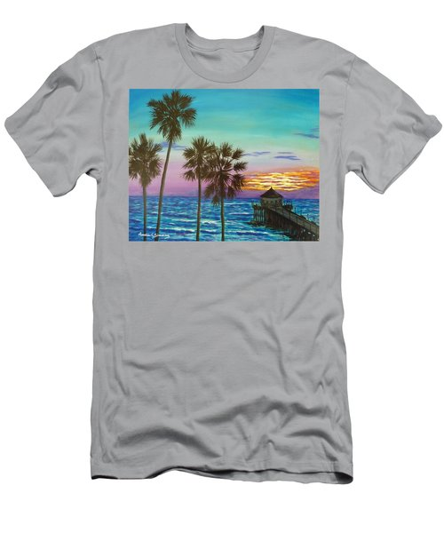 Surf City Sunset Men's T-Shirt (Athletic Fit)