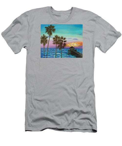 Surf City Sunset Men's T-Shirt (Athletic Fit)