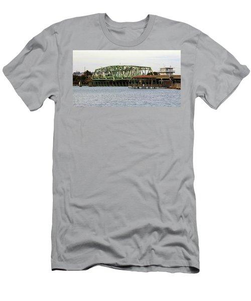 Surf City Swing Bridge Men's T-Shirt (Slim Fit) by Cynthia Guinn