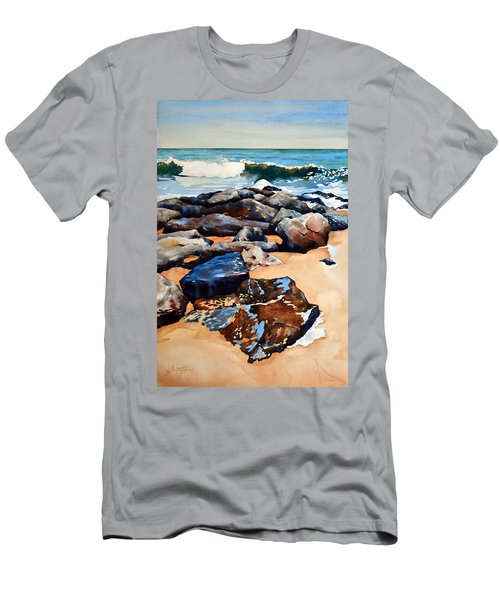 Surf On The Jetty Men's T-Shirt (Athletic Fit)