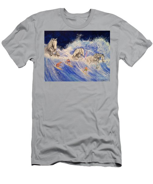 Surfing Horses Men's T-Shirt (Athletic Fit)