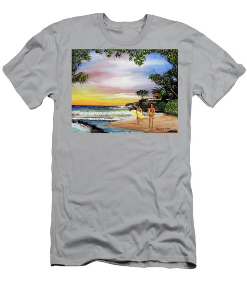 Surfing In Rincon Men's T-Shirt (Slim Fit) by Luis F Rodriguez
