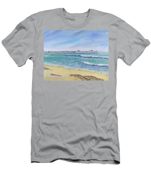 Surfing In San Clemente Men's T-Shirt (Athletic Fit)