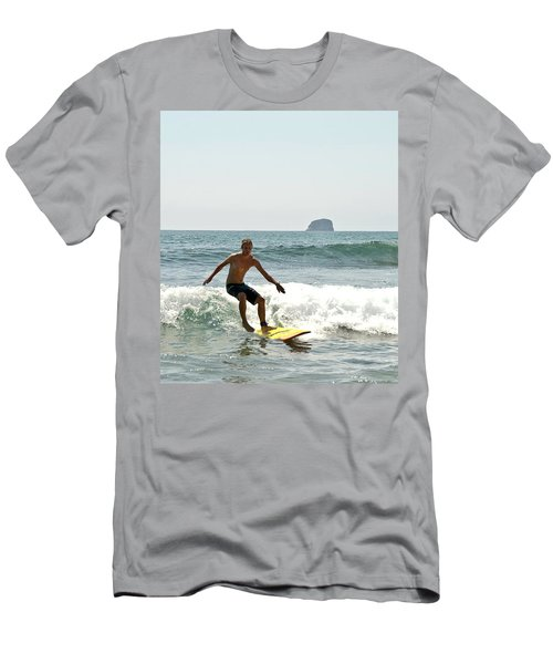Men's T-Shirt (Slim Fit) featuring the photograph Surfing New Zealand Waves by Yurix Sardinelly