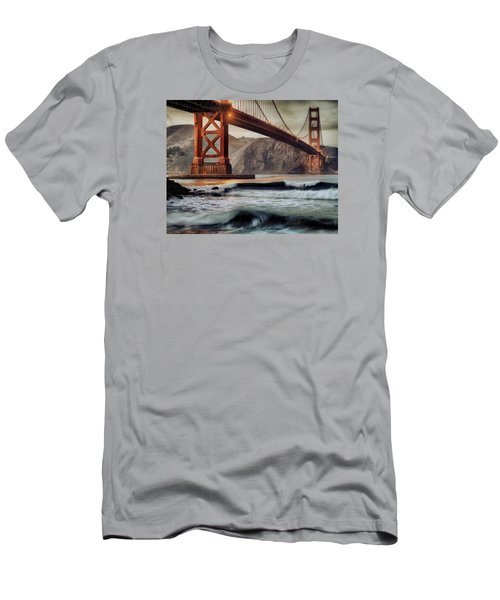 Men's T-Shirt (Slim Fit) featuring the photograph Surfing The Shadows Of The Golden Gate Bridge by Steve Siri