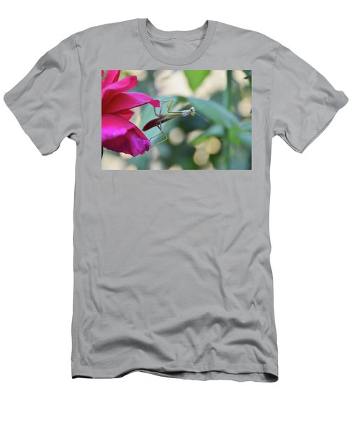Men's T-Shirt (Slim Fit) featuring the photograph Surprise At The Rose by Debby Pueschel