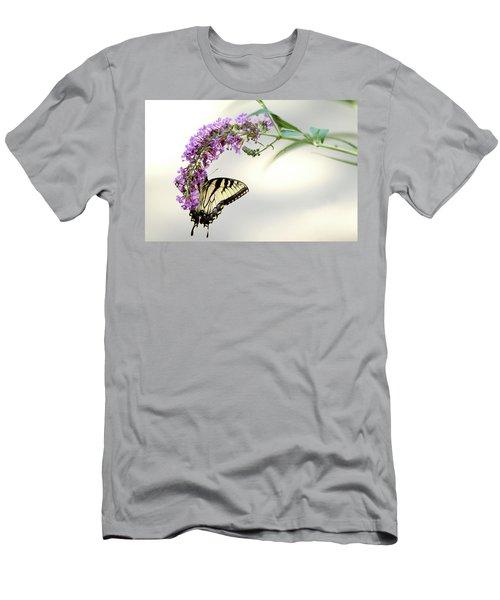 Swallowtail On Purple Flower Men's T-Shirt (Slim Fit) by Emanuel Tanjala