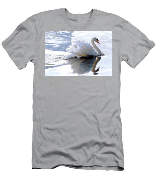 Swan Bathed In Morning Light Series 3 - Digitalart Men's T-Shirt (Athletic Fit)