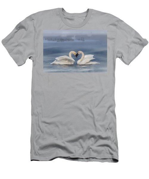 Swan Valentine - Blue Men's T-Shirt (Athletic Fit)
