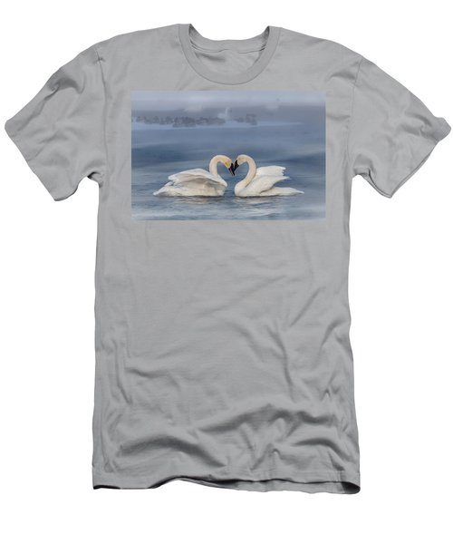 Swan Valentine - Blue Men's T-Shirt (Athletic Fit)