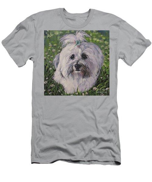 Men's T-Shirt (Slim Fit) featuring the painting Sweet Havanese Dog by Lee Ann Shepard