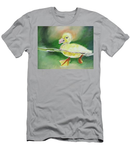 Swimming Duckling Men's T-Shirt (Athletic Fit)