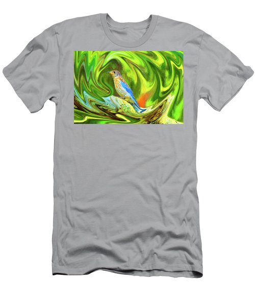 Swirling Bluebird  Men's T-Shirt (Athletic Fit)