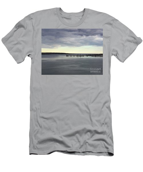 Swirling Currents On Casco Bay Men's T-Shirt (Athletic Fit)