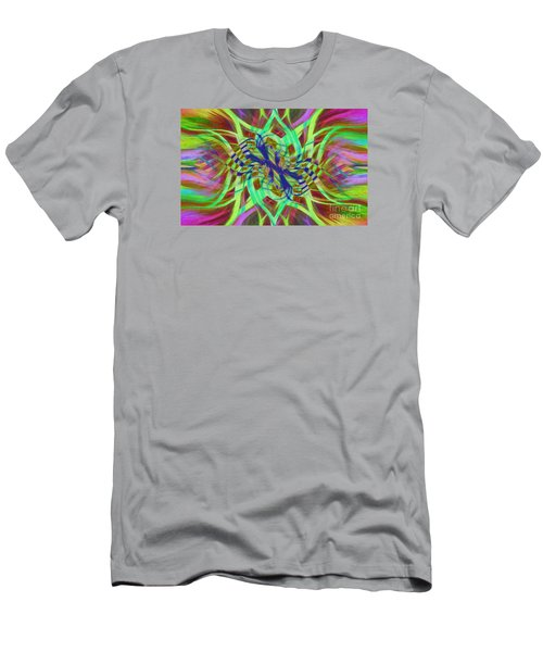 Swirly Floral Mandala 01 Men's T-Shirt (Slim Fit) by Jack Torcello