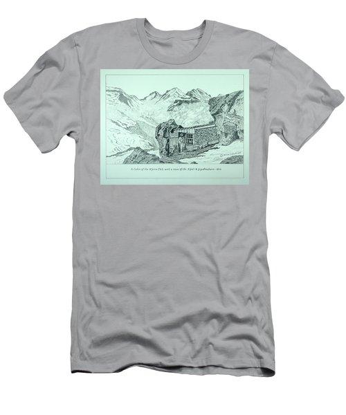 Swiss Alpine Cabin Men's T-Shirt (Athletic Fit)