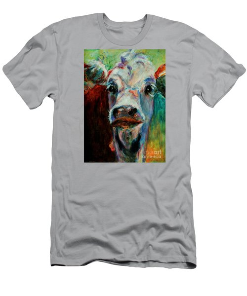 Swiss Cow - 1 Men's T-Shirt (Slim Fit) by David  Van Hulst
