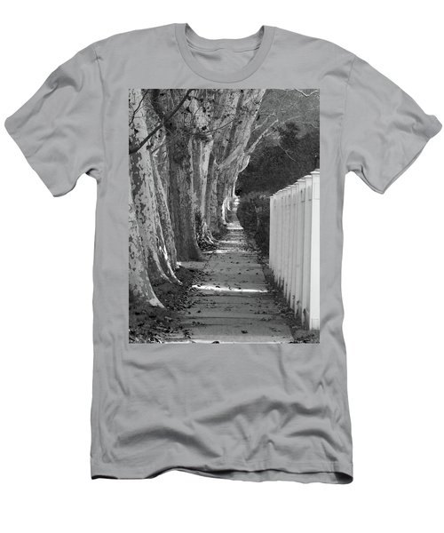 Sycamore Walk-grayscale Version Men's T-Shirt (Athletic Fit)