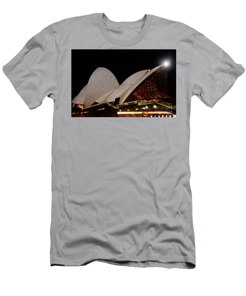 Men's T-Shirt (Athletic Fit) featuring the photograph Sydney Opera House Close View 2 By Kaye Menner by Kaye Menner