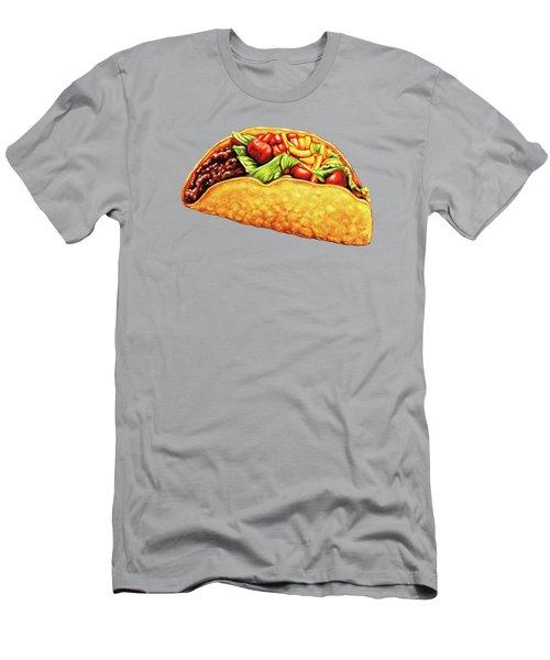Taco Pattern Men's T-Shirt (Athletic Fit)