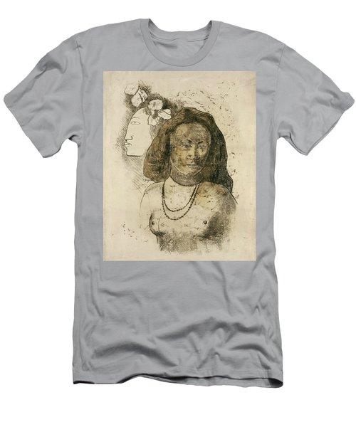 Tahitian Woman With Evil Spirit Men's T-Shirt (Athletic Fit)