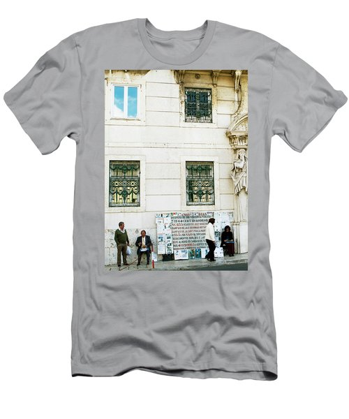 Men's T-Shirt (Slim Fit) featuring the photograph Taking It To The Streets by Lorraine Devon Wilke