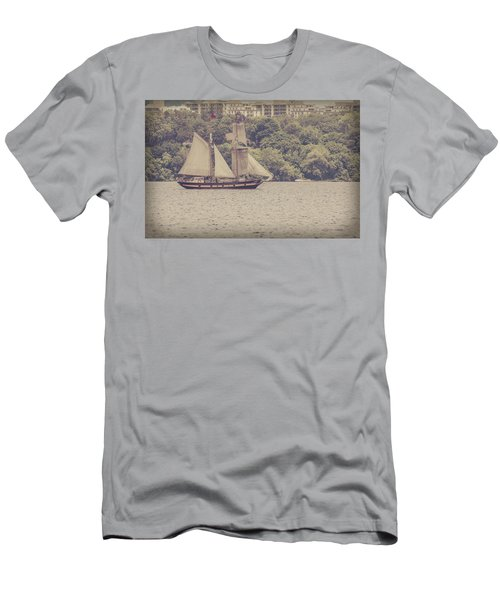 Tall Ship - 2 Men's T-Shirt (Athletic Fit)